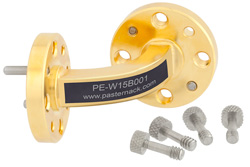 WR-15 Instrumentation Grade Waveguide E-Bend with UG-385/U Flange Operating from 50 GHz to 75 GHz