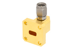 WR-28 UG-599/U Square Cover Flange to 2.92mm Male Waveguide to Coax Adapter Operating From 26.5 GHz to 40 GHz, Ka Band