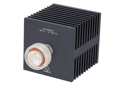 Medium Power 50 Watts RF Load Up To 8 GHz With 7/16 DIN Male Input Square Body Black Anodized Aluminum Heatsink