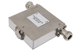 Isolator With 18 dB Isolation From 1 GHz to 2 GHz, 10 Watts And N Female