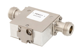 Isolator With 18 dB Isolation From 2 GHz to 4 GHz, 10 Watts And N Female