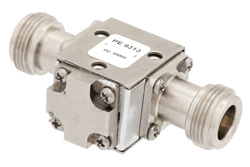 Isolator With 20 dB Isolation From 7 GHz to 12.4 GHz, 10 Watts And N Female