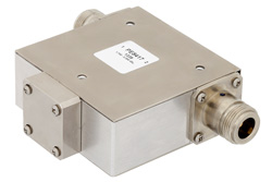 Isolator With 18 dB Isolation From 1.7 GHz to 2.2 GHz, 10 Watts And N Female