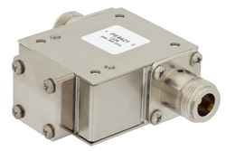 High Power Isolator With 18 dB Isolation From 698 MHz to 960 MHz, 1000 Watts And N Female