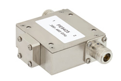 High Power Isolator With 20 dB Isolation From 380 MHz to 460 MHz, 100 Watts And N Female