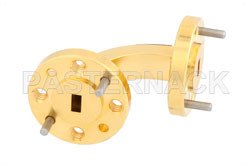 WR-15 Instrumentation Grade Waveguide E-Bend with UG-385/U Flange Operating from 50 GHz to 75 GHz (図2)