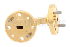 WR-15 Instrumentation Grade Waveguide H-Bend with UG-385/U Flange Operating from 50 GHz to 75 GHz (図2)