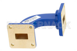 WR-62 Commercial Grade Waveguide H-Bend with UG-419/U Flange Operating from 12.4 GHz to 18 GHz (図2)