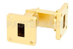 WR-62 Instrumentation Grade Waveguide E-Bend with UG-419/U Flange Operating from 12.4 GHz to 18 GHz (図2)
