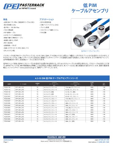 Low PIM Product Selection Guide